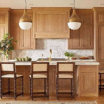Honey Stained Kitchen Cabinets Design Ideas