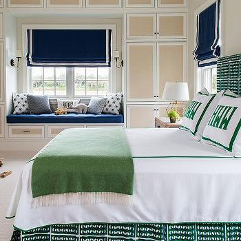 Blue And Green Boy Bedroom Color Scheme, Navy Blue And Kelly Green Bedding