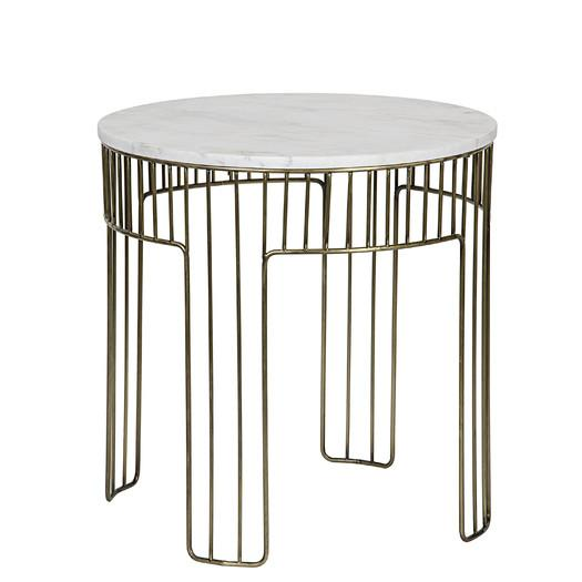 Amadeus Marble Gold Linear End Table