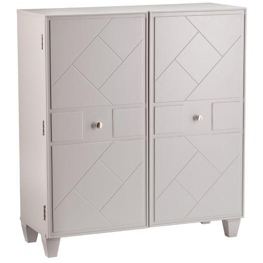 Devona Warm Gray Two Door Storage Cabinet