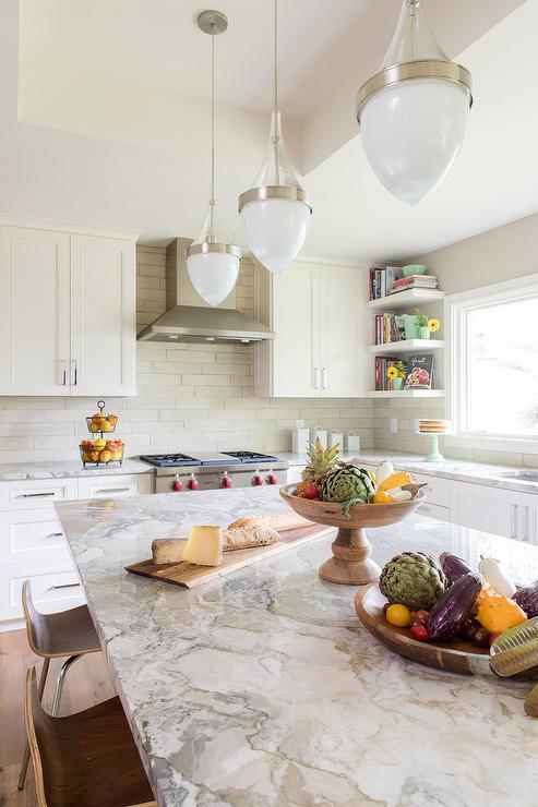 Dolce Vita Quartzite Transitional Kitchen