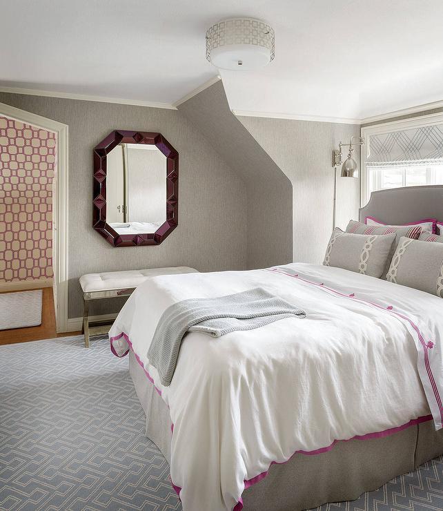 Fuchsia Bedroom Jewel Mirror Design Ideas