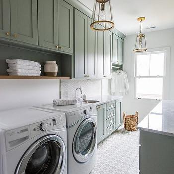Laundry Room Backsplash gray cement laundry room backsplash design ideas