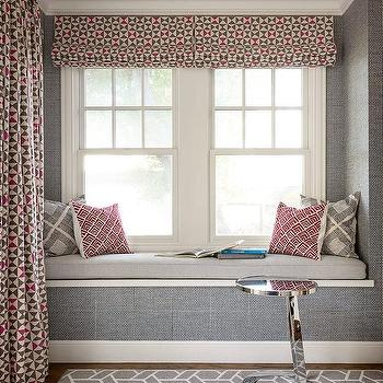 Red and Gray Window Seat