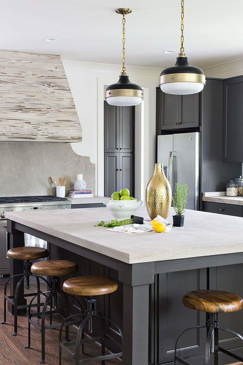 Kitchen Cabinets Ideas pecky cypress kitchen cabinets : White Pecky Cypress Kitchen Cabinets with Navy Blue Island ...
