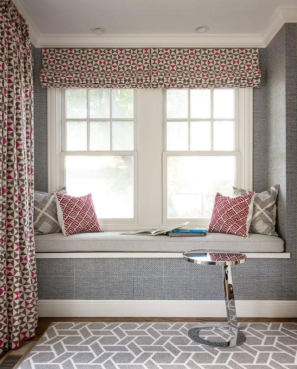 Window Seat Curtains Design Ideas