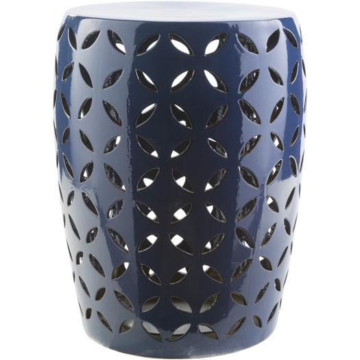 Demetrios Navy Garden Stool