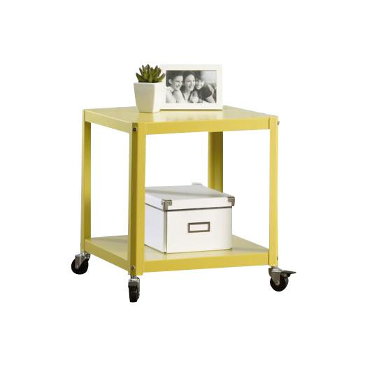 Metal Rolling Cart Bedside Table Pottery Barn