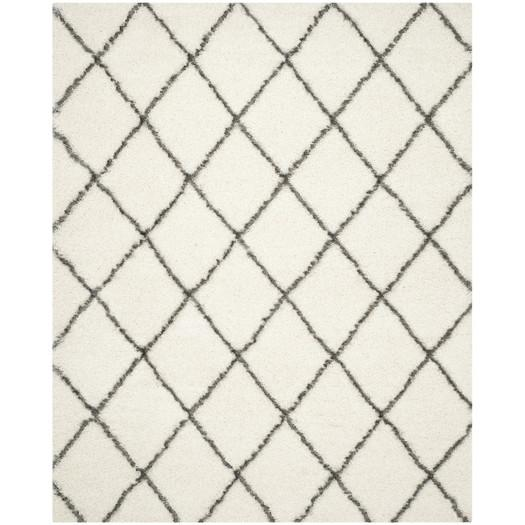 sewell moroccan ivory gray shag rug