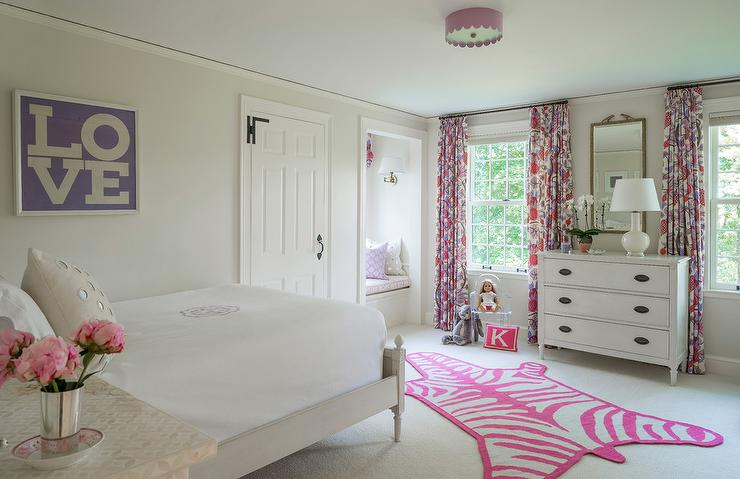 Pink And Purple Girl Bedroom Color Scheme Transitional Girl S Room