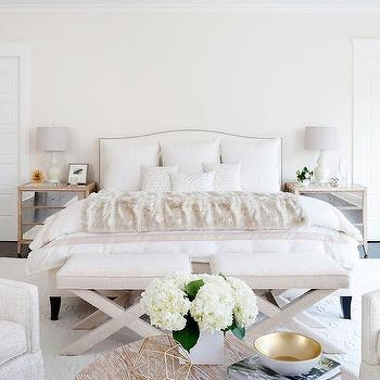 Marvelous JWS Interiors · Ivory Bedroom With Mirrored Nightstands