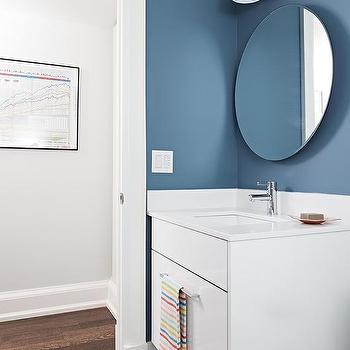 frameless bathroom vanity mirror. White And Blue Bathroom With Black Hex Floor Frameless Bathroom Vanity Mirror W