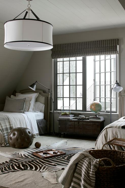 boys bedroom with french twin beds