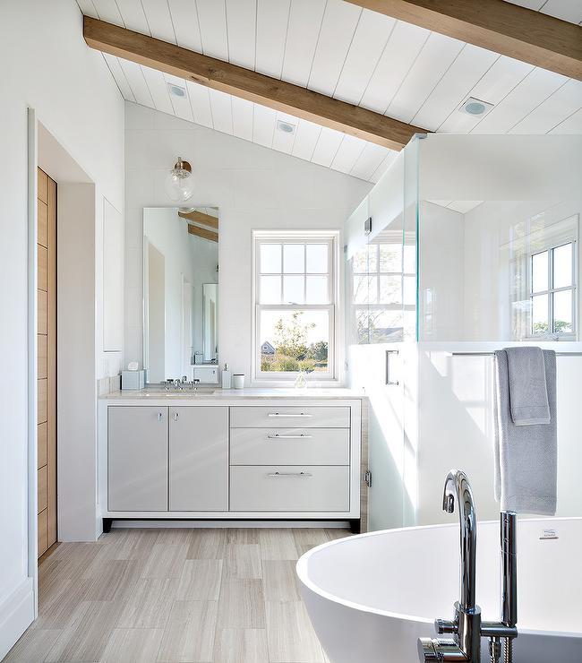 Bathroom Sloped Ceiling Design Ideas