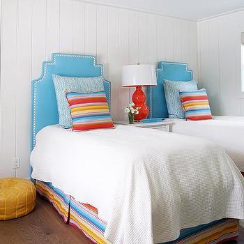 Blue And Orange Kids Bedroom