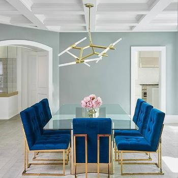 Brass Base Dining Table With Glass Top View Full Size Jonathan Adler Goldfinger Blue Velvet Chairs