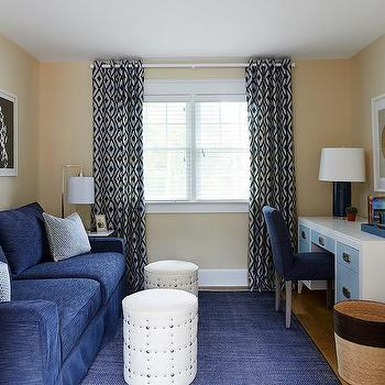 office color scheme. Blue Home Office With Skirted Sofa Color Scheme M