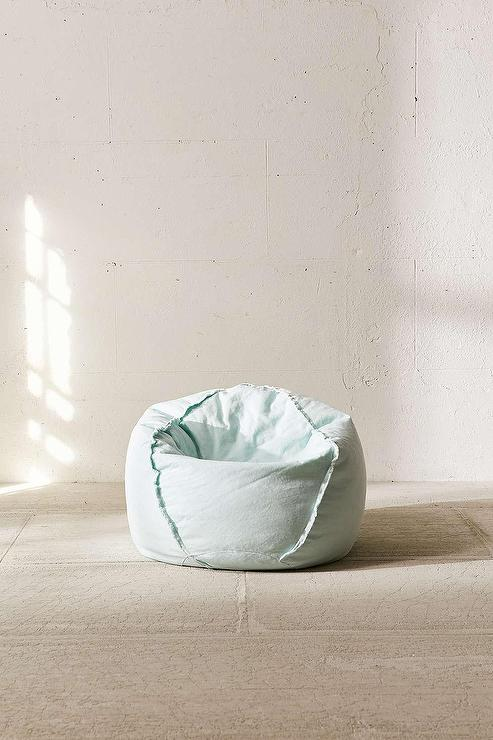 Exposed Seam Mint Bean Bag Chair