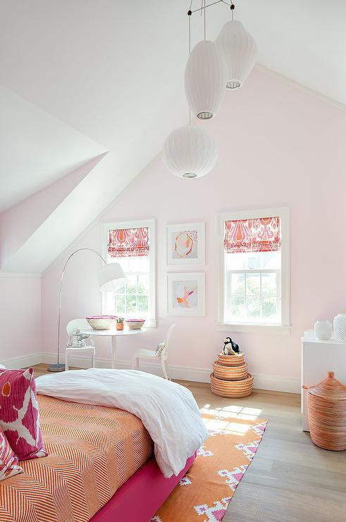 Hot Pink and Orange Kid Bedroom - Contemporary - Girl\'s Room