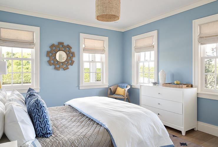 Blue And Gray Bedding Cottage Bedroom