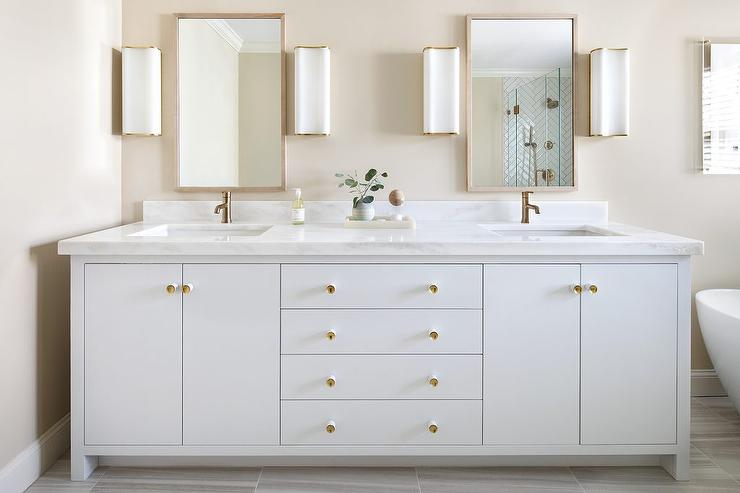 Bathroom Vanities Knobs Or Pulls gold accent vanity knobs design ideas
