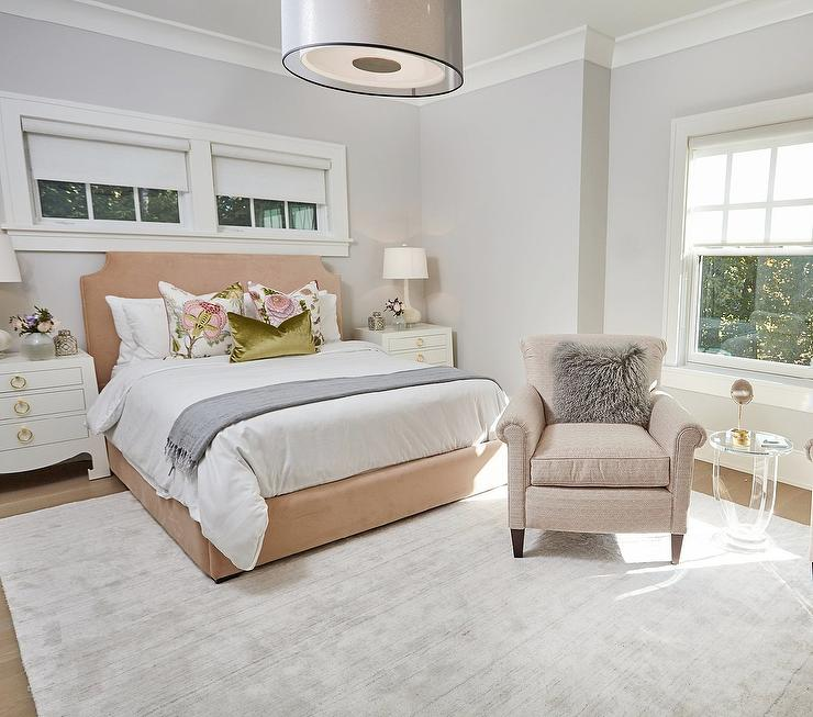 Transitional Bedroom Benjamin Moore Grey Owl