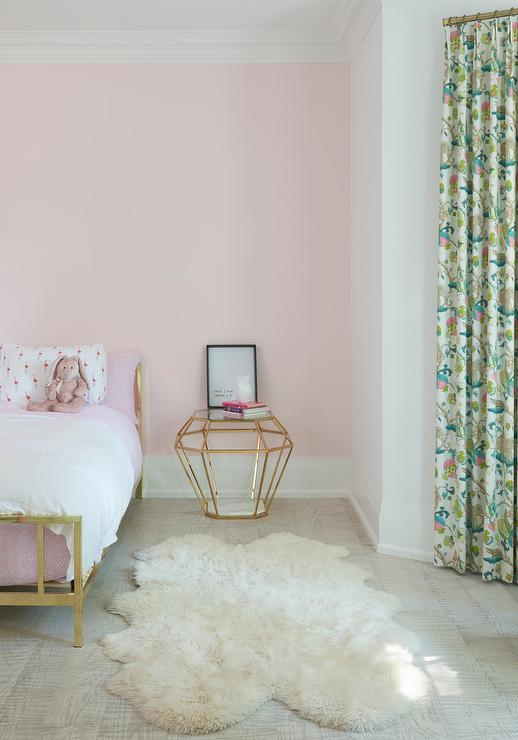 Pink And Gold Girl Bedroom Transitional Girl S Room