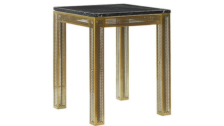 Perforated Black Marble Desk Table