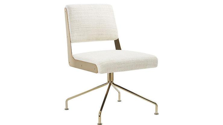 chic white gold office chair - products, bookmarks, design
