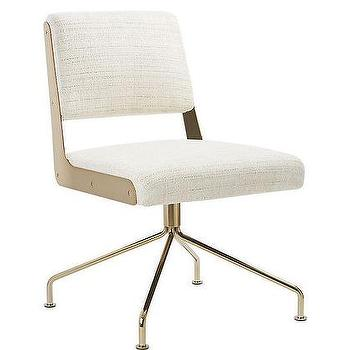 Ivory Midcentury Modern Office Chair Products Bookmarks Design Inspiration And Ideas