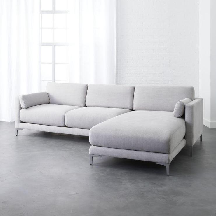 Strange District Dove 2 Piece Gray Sectional Sofa Pabps2019 Chair Design Images Pabps2019Com
