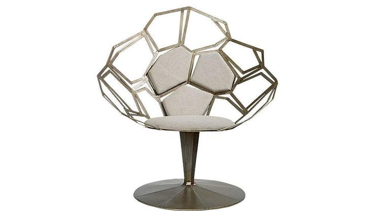 Cool Mosaico Gray Swivel Statement Chair Pdpeps Interior Chair Design Pdpepsorg