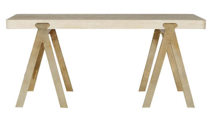 Sawhorse Oak Wood Desk