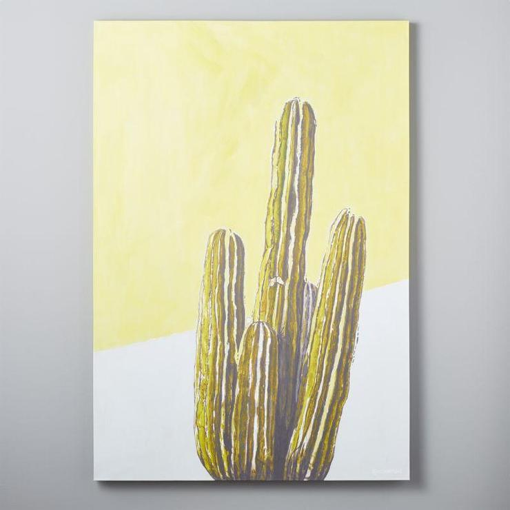 Spikes Cactus Print Wall Canvas
