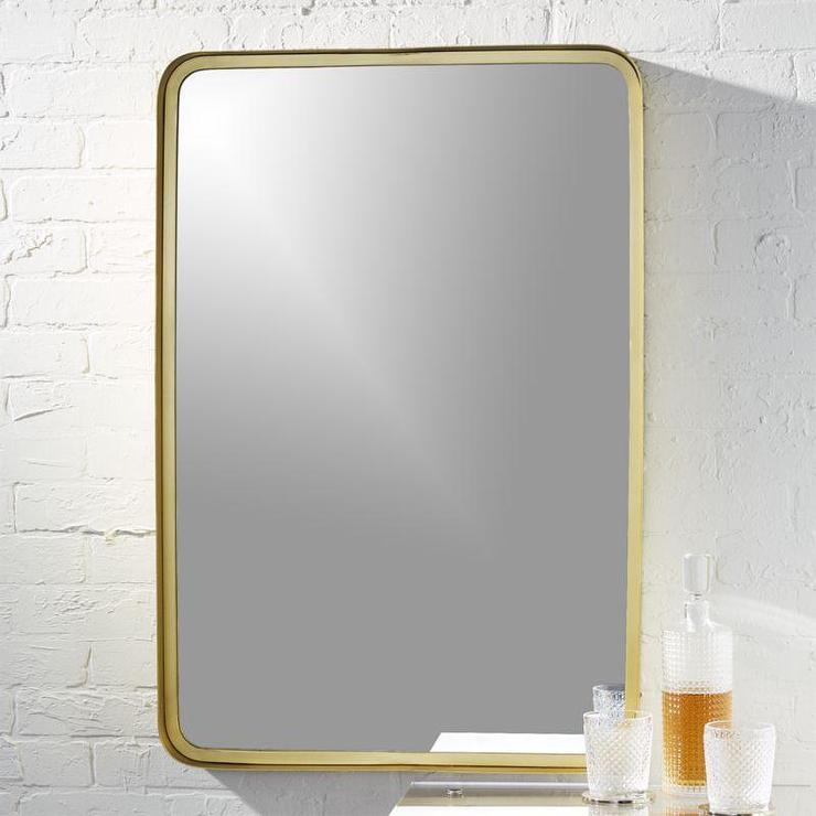 Abbyson Living Alexis Rectangle Wall Mirror In Gold