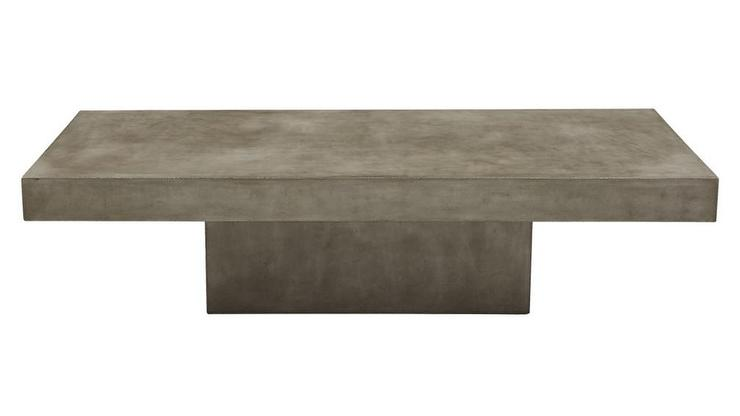 Element Rectangular Grey Concrete Coffee Table - Rectangular concrete coffee table