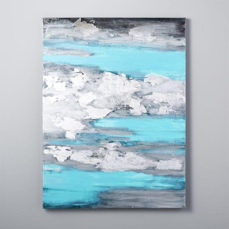Ocean storm canvas wall painting