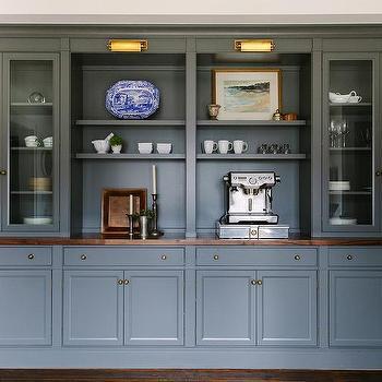 Dark Gray Dining Room Shelves Design Ideas