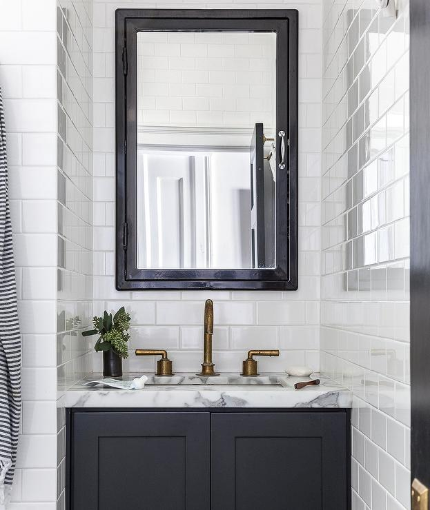 Black Medicine Cabinet With Black Bath Vanity