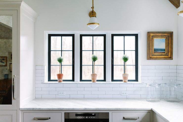 Kitchen Backsplash By Window kitchen topiaries design ideas
