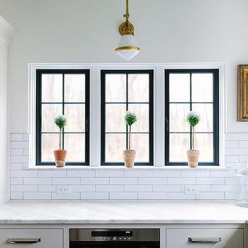 Kitchen Topiaries In Windowsill