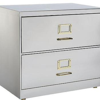 Stainless Steel Brass File Cabinet