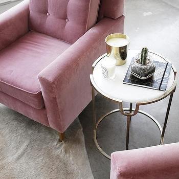 Pink Velvet Tufted Chair Design Ideas