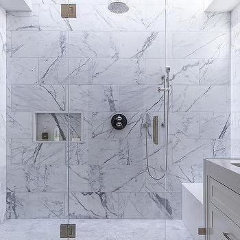 White Marble Shower Tile