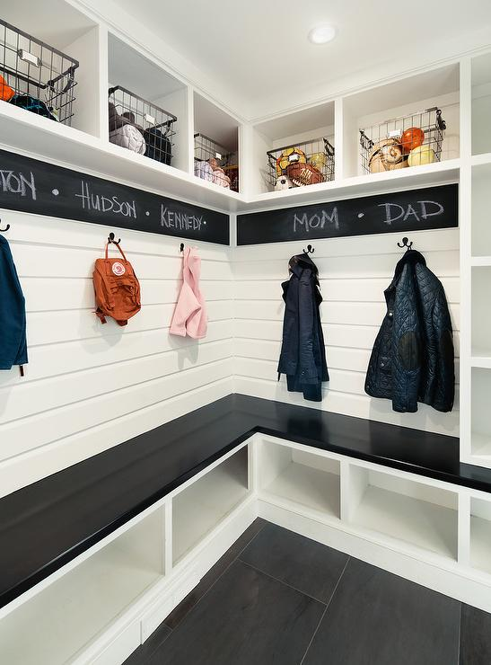 Mudroom Shoe Storage Ideas Transitional Laundry Room