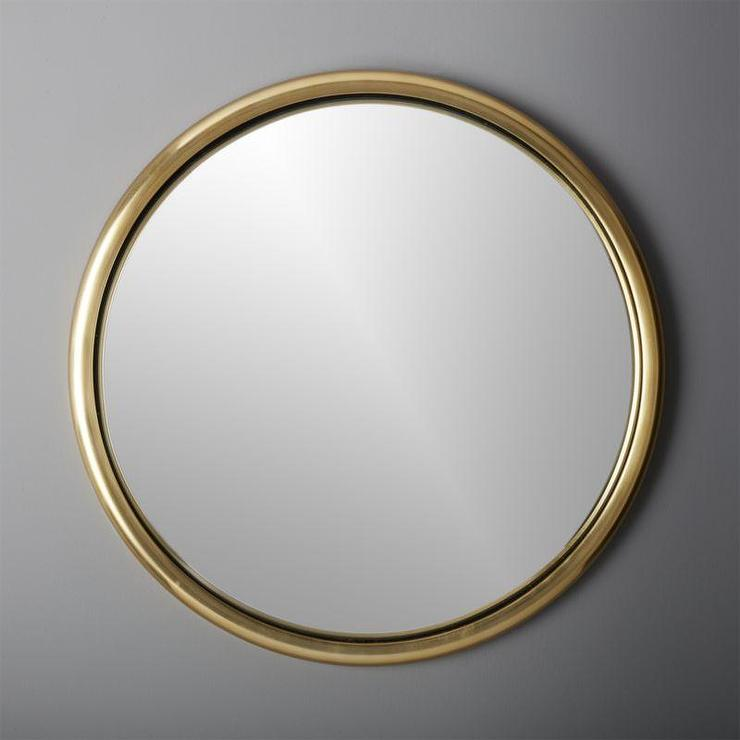 gold rounded edges mirror