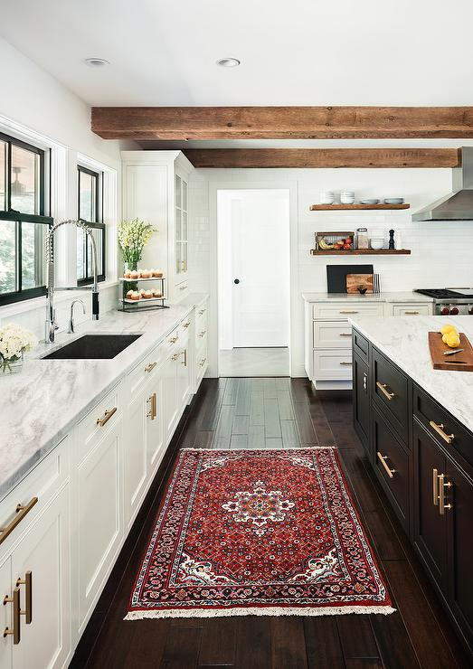 Red Kitchen Rug - Transitional - Kitchen