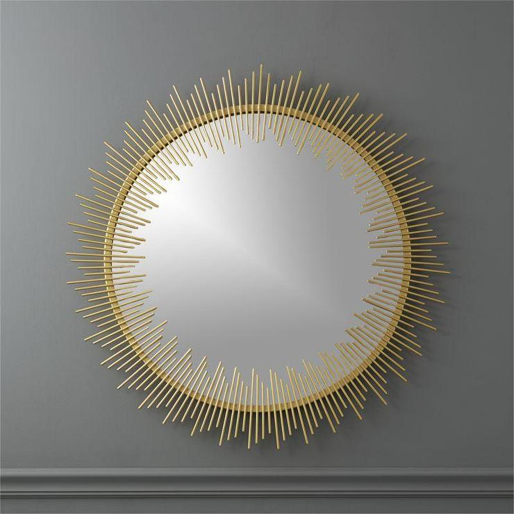 Rocco Gold Sunburst Wall Mirror