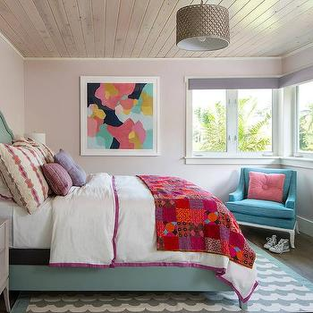 Mauve Bedroom. Pink and Blue Bedroom with Gray Nightstands Pale Mauve Walls Design Ideas