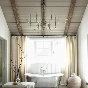 Blue french country bathroom design ideas for Living etc bathroom ideas
